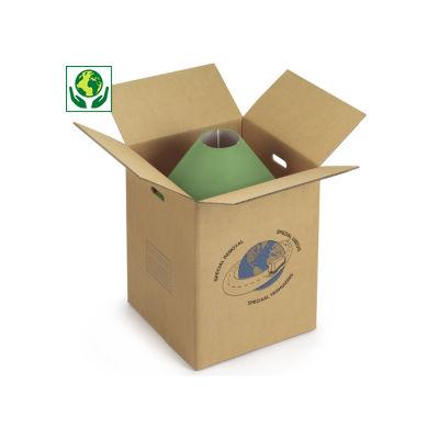 Caisse carton double cannelure avec poignées##Dubbelgolf doos met handgrepen