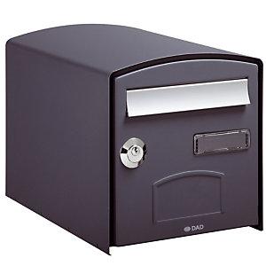 Dubbelzijdige brievenbus Dome grijs 7016