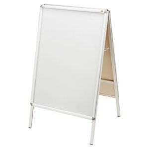 Dubbelzijdige posterborden 70 x 700 cm zilvere kleur