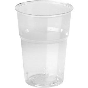Duni Bicchiere monouso Trend in PS, Riciclabile, Per bevande calde e fredde, Capacità 300 ml, Trasparente (confezione 50 pezzi)