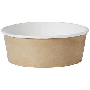 Duni Ciotola monouso per insalata in Cartone/PE, Capacità 1260 ml, 18,4 x 18,4 x 6,5 cm, Marrone (confezione 276 pezzi)