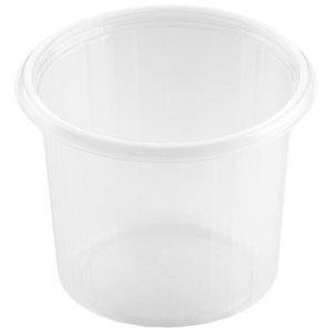 Duni Contenitore monouso Fixpack® rotondo in PP, Riciclabile, Capacità 500 ml, Trasparente (confezione 50 pezzi)