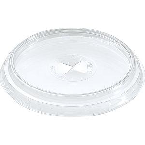 Duni Coperchio monouso piatto con tacca per bicchiere Trend capacità 250, 300 ml, APET, Riciclabile,Trasparente (confezione 100 pezzi)