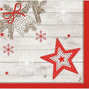Duni Dunisoft® serviettes de table jetables de Noël  40 x 40 cm - Décors Cosy Winter
