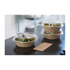 Duni ecoecho® Ciotola in bagassa bio e compostabile, Capacità 900 ml, 19,4 x 19,4 x 5,3 cm, Marrone (confezione 40 pezzi)