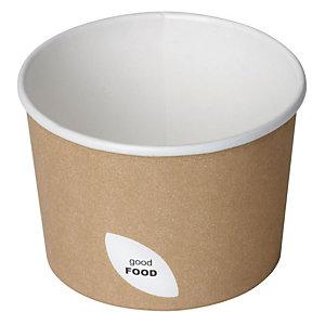 Duni ecoecho® Ciotola per primi e zuppe calde, Capacità 250 ml, 9 x 9 x 6,2 cm, Cartone/PLA, Marrone (confezione 400 pezzi)