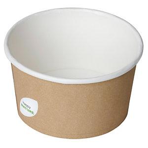 Duni ecoecho® Ciotola per primi e zuppe calde, Capacità 400 ml, 11,5 x 11,5 x 6,3 cm, Cartone/PLA, Marrone (confezione 500 pezzi)