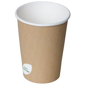 Duni ecoecho® Ciotola per primi e zuppe calde, Capacità 950 ml, 11,5 x 11,5 x 14,8 cm, Cartone/PLA, Marrone (confezione 500 pezzi)