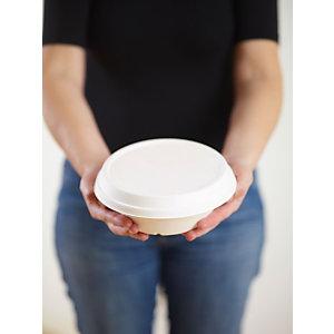 Duni ecoecho® Coperchio monouso in bagassa bio e compostabile, per ciotola capacità 800 e 1.000 ml, Bianco (confezione 320 pezzi)