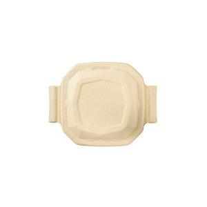 Duni ecoecho® Coperchio monouso in bagassa bio e compostabile, per scatola Octabagasse capacità 650 ml, Marrone (confezione 300 pezzi)