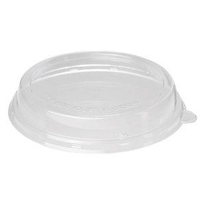 Duni ecoecho® Coperchio monouso in rPET per ciotola capacità 600 ml,  Riciclabile, 17 x 17 x 3,5 cm, Trasparente (confezione 40 pezzi)