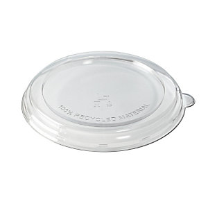 Duni ecoecho® Coperchio monouso per ciotola capacità 800 e 1.000 ml, rPET, Trasparente (confezione 160 pezzi)