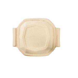 Duni ecoecho® Coperchio monouso per scatola Octabagasse capacità 1.000 ml, Bagassa bio e compostabile, Marrone (confezione 50 pezzi)
