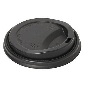 Duni ecoecho® Coperchio monouso per tazza Urban, CPLA, Compostabile, Capacità 350 ml, Nero (confezione 800 pezzi)