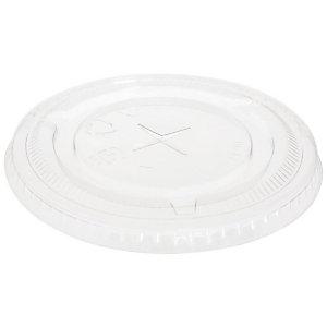 Duni ecoecho® Coperchio monouso piatto con tacca per bicchiere Crystal capacità 300, 400, 500 ml, rPET, Riciclabile, Trasparente (confezione 50 pezzi)