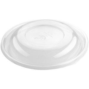 Duni ecoecho® Coperchio per ciotola da insalata capacità 700 e 950 ml, PLA compostabile, 23 x 23 x 3 cm, Trasparente (confezione 45 pezzi)