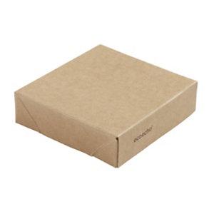 Duni ecoecho® Coperchio per scatola Viking® Mini, Cartone laminato in PLA, 7,5 x 7,5 x 2 cm, Marrone (confezione 300 pezzi)