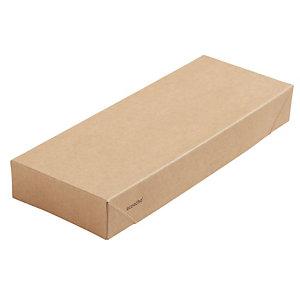 Duni ecoecho® Coperchio per Scatola Viking® Slim Brick, Cartone laminato in PLA, 22,5 x 8,5 x 3 cm, Marrone (confezione 300 pezzi)