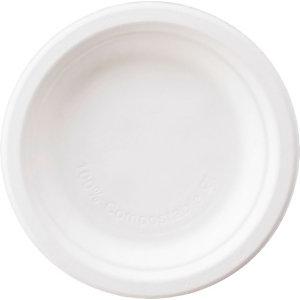 Duni ecoecho® Piatto dessert monouso in bagassa bio e compostabile, Ø 15 cm, Bianco (confezione 1.000 pezzi)