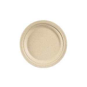 Duni ecoecho® Piatto monouso in bagassa bio e compostabile, Ø 22 cm, Marrone (confezione 450 pezzi)