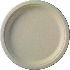Duni ecoecho® Piatto monouso in bagassa bio e compostabile, ø 26 cm, Marrone (confezione 50 pezzi)