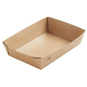 Duni ecoecho® Scatola Viking® Brick, Cartone laminato in PLA, Capacità 1.100 ml, 20 x 14 x 4,5 cm, Marrone (confezione 300 pezzi)