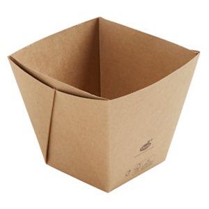 Duni ecoecho® Scatola Viking® Cube High, Cartone laminato in PLA, Capacità 820 ml, 11,3 x 11,3 x 10 cm, Marrone (confezione 300 pezzi)