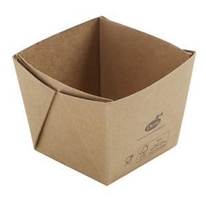 Duni ecoecho® Scatola Viking® Mini, Cartone laminato in PLA, Capacità 250 ml, 7,5 x 7,5 x 6 cm, Marrone (confezione 300 pezzi)
