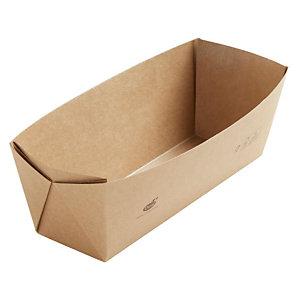Duni ecoecho® Scatola Viking® Slim Brick, Cartone laminato in PLA, Capacità 1.100 ml, 22,5 x 8,5 x 7,5 cm, Marrone (confezione 300 pezzi)