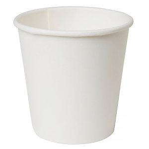Duni ecoecho® Tazza monouso in carta/PLA compostabile, Capacità 120 ml, Bianca (confezione 1.620 pezzi)