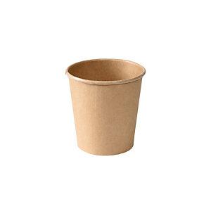Duni ecoecho® Tazza monouso in carta/PLA compostabile, Capacità 120 ml, Marrone (confezione 1.000 pezzi)