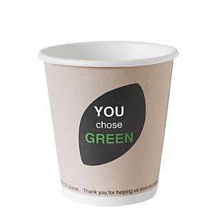 Duni ecoecho® Tazza monouso Thank You in carta/PLA compostabile, Capacità 180 ml, Decorata (confezione 800 pezzi)