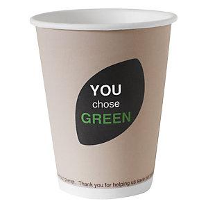 Duni ecoecho® Tazza monouso Thank You in carta/PLA compostabile, Capacità 470 ml, Decorata (confezione 800 pezzi)