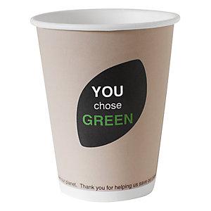 Duni ecoecho® Tazza monouso Thank You in carta/PLA compostabile, Per bevande calde, Capacità 350 ml, Decorata (confezione 50 pezzi)