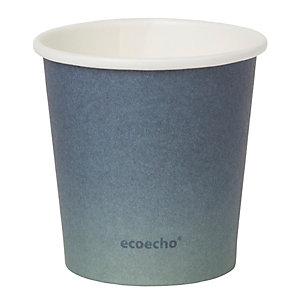 Duni ecoecho® Tazza monouso Urban in carta/PLA, Capacità 120 ml, Decorata (confezione 1.000 pezzi)