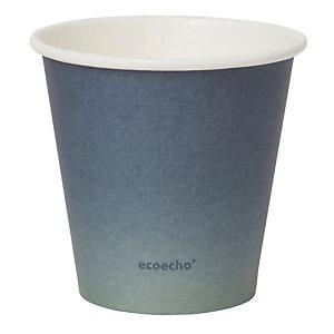 Duni ecoecho® Tazza monouso Urban in carta/PLA, Capacità 180 ml, Decorata (confezione 800 pezzi)