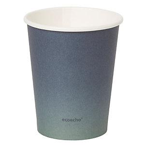 Duni ecoecho® Tazza monouso Urban in carta/PLA, Capacità 240 ml, Decorata (confezione 800 pezzi)