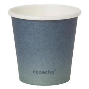 Duni ecoecho® Tazza monouso Urban in carta/PLA, Capacità 80 ml, Decorata (confezione 50 pezzi)