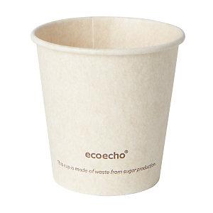 Duni ecoecho® Tazza Sweet per bevande calde in bagassa e PLA compostabile, Capacità 120 ml, Decorata (confezione 50 pezzi)
