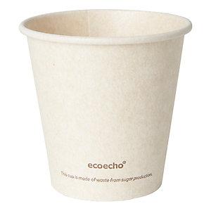 Duni ecoecho® Tazza Sweet per bevande calde in bagassa e PLA compostabile, Capacità 180 ml, Decorata (confezione 50 pezzi)