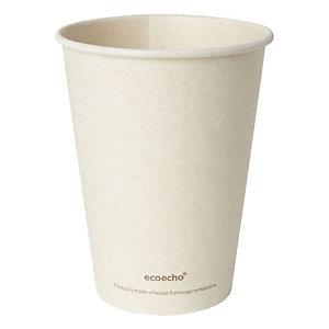 Duni ecoecho® Tazza Sweet per bevande calde in bagassa e PLA compostabile, Capacità 350 ml, Decorata (confezione 50 pezzi)