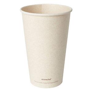 Duni ecoecho® Tazza Sweet per bevande calde in bagassa e PLA compostabile, Capacità 470 ml, Decorata (confezione 36 pezzi)