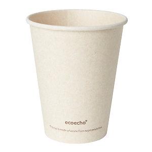 Duni Gobelet jetable pour boisson chaude Sweet, en bagasse compostable - 24 cl