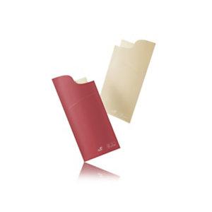 Duni Sacchetto® Reversibile Busta per posate, Cellulosa, 8,5 x 19 cm, Crema/Bordeaux (confezione 100 pezzi)