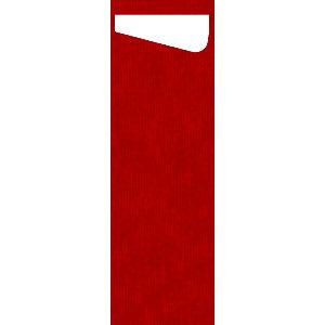Duni Sacchetto® Slim Dunisoft Busta per posate, 7 x 23 cm, Rosso (confezione 60 pezzi)