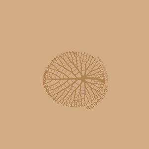 DUNI Serviette de table jetable, 3 plis, 33 x 33 cm - Marron (lot de 50)