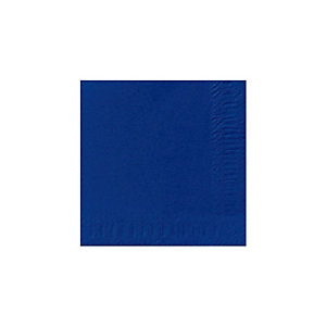 Duni Serviette de table jetable, triple épaisseur, 33cm, bleu foncé