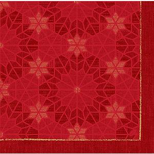 Duni Serviettes de table jetables All Stars, motif Noël 40 x 40 cm - Rouge