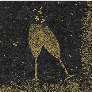 Duni Serviettes de table jetables Celebrate, motif Noël 40 x 40 cm - Noir