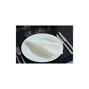Duni Serviettes de table jetables Dunisoft® 40 x 40 cm - Blanc